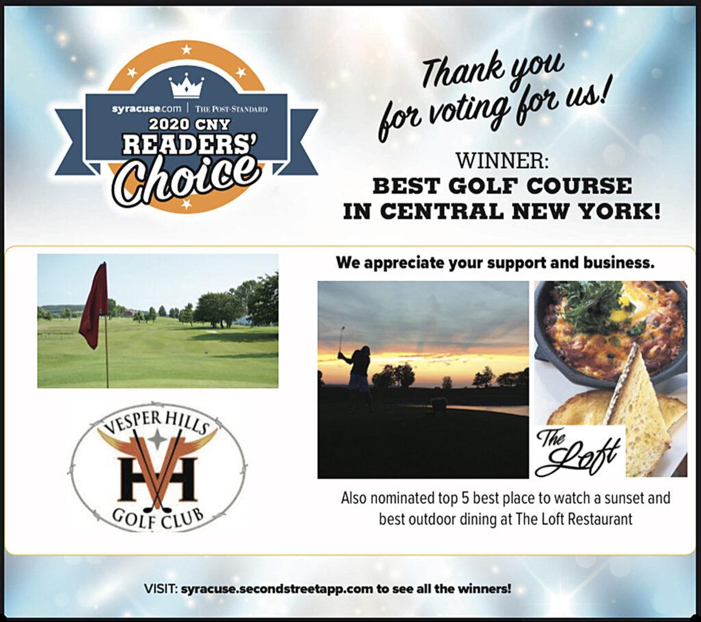 Best Golf Course -- Syracuse-dot-com--2020